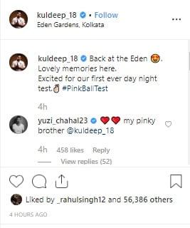 Yuzvendra Chahal slams fan to support Kuldeep Yadav on Instagram