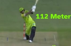 Alex Hales hit a mountainous six over the roof in BBL