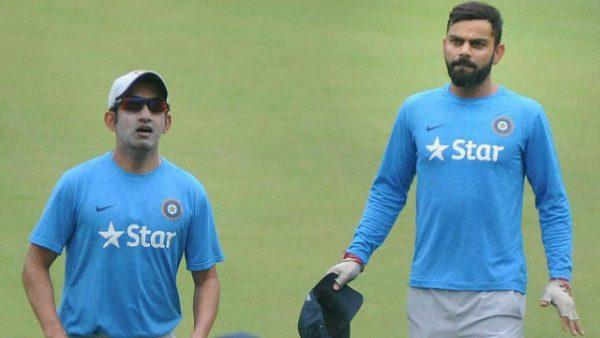 Gautam Gambhir with Virat Kohli