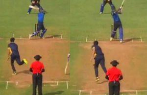 Hardik Pandya hit record 39 runs in an over