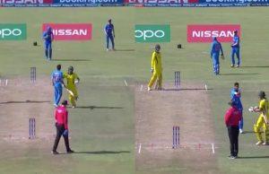 ICC punish Australia opener Sam Fanning for elbowing India seamer Akash Singh