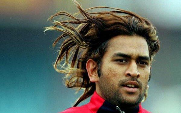 MS Dhoni Long Hair Pic