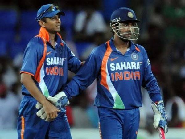 MS Dhoni and Rahul Dravid