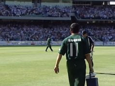 Sachin Tendulkar carries drinks post Ricky Ponting