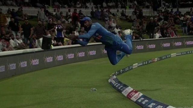 Airborne Sanju Samsons courageous effort saves four runs