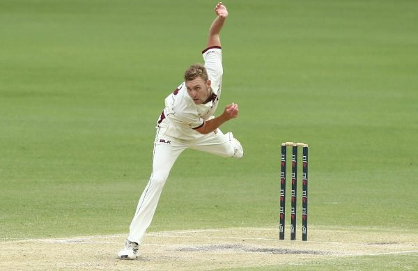 Batsman goes down as Billy Stanlake bowls a deadly bouncer in Sheffield Shield