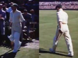 Colour Footage Of Don Bradman Batting At Sydney Cricket Ground