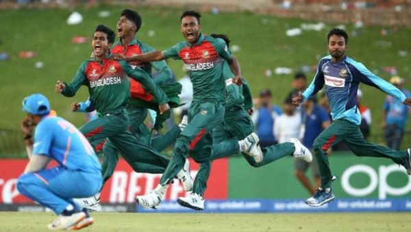 India and Bangladesh players involved in a brawl after ICC U19 WC
