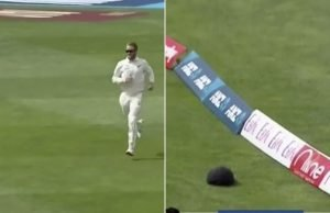 Kane Williamson amusingly chases cap to the boundary in Wellington Test