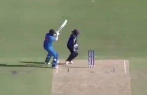 Shafali Verma hits boundary from behind the stumps vs Sri Lanka