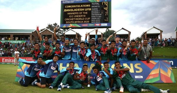 U19 Cricket World Cup 2020 Champions - Bangladesh