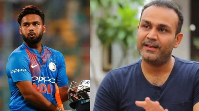 Virender Sehwag questions Rishabh Pant's absence from T20I XI on New Zealand tour