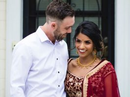 Glenn Maxwell and Vini Raman celebrate their engagement in traditional Indian style
