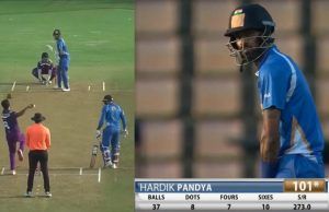Hardik Pandya smashes a 37-ball century in DY Patil T20 Cup