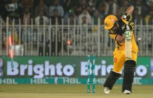 Mohammad Amir castles Haider Ali with a peach of a delivery in PSL 2020