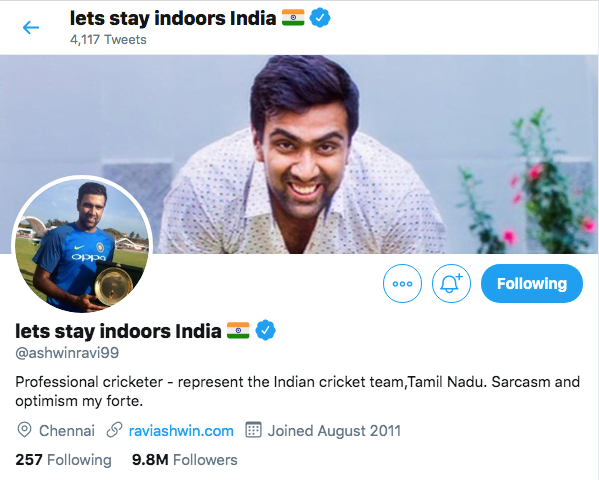Ravichandran Ashwin Changes Twitter Name To Send Strong Message