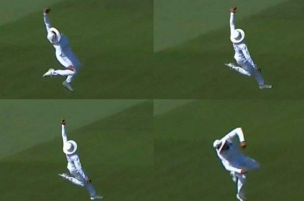 Ravindra Jadeja taking a stunning catch to dismiss Neil Wagner in Christchurch Test