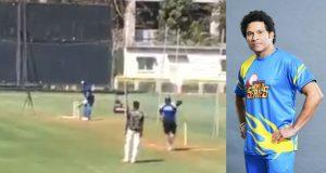 Road Safety World Series 2020 - Sachin Tendulkar begins practice in the nets