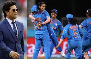 Sachin Tendulkar Motivates India Women's Team Before T20 World Cup Final