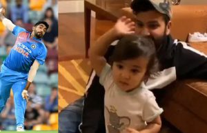 Rohit Sharma daughter Samaira imitates Jasprit Bumrah bowling action