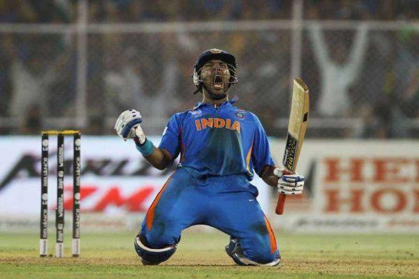 Yuvraj Singh – 57 not out vs Australia in 2011 World Cup