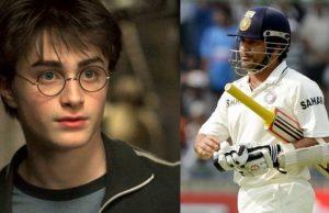 Daniel Radcliffe and Sachin Tendulkar