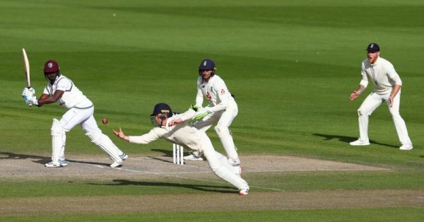 Watch - Stunning catch by Ollie Pope