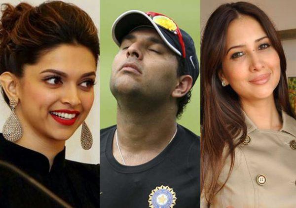 Yuvraj Singh and Deepika Padukone, Kim Sharma