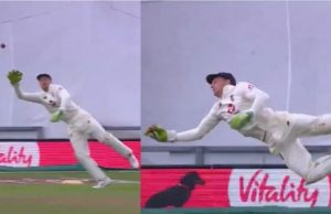 Jos Buttler grabs a one-handed stunner in Southampton Test