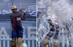Andre Russell Breaks Camera Glass During Net Session