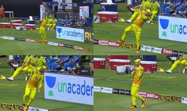 Faf du Plessis Awesome Catch Vs Mumbai Indians in IPL2020