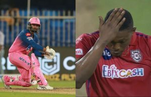 Rahul Tewatia 5 Sixes in an over of Sheldon Cottrell
