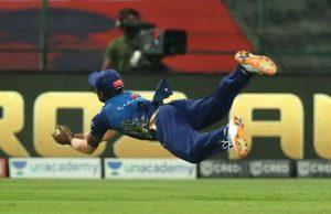 Anukul Roy catch vs Rajasthan Royals in IPL 2020