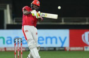 Chris Gayle hit 5 back to back boundaries in Tushar Deshpande's Over