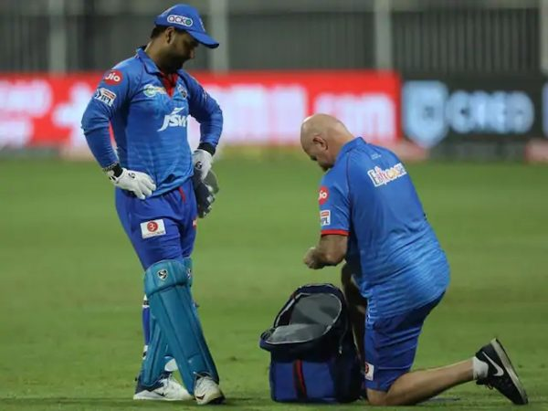 Injured Rishabh Pant is out for at least one week in IPL 2020