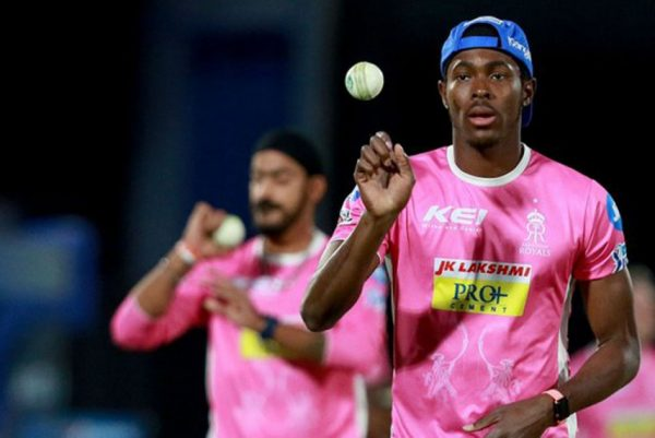 Jofra Archer imitating Jasprit Bumrah's bowling action