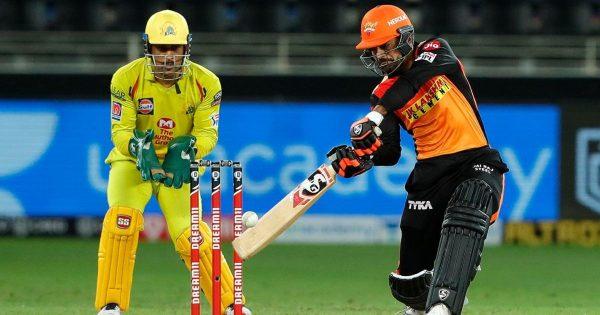 Rashid Khan gets hit wicket vs CSK in IPL 2020