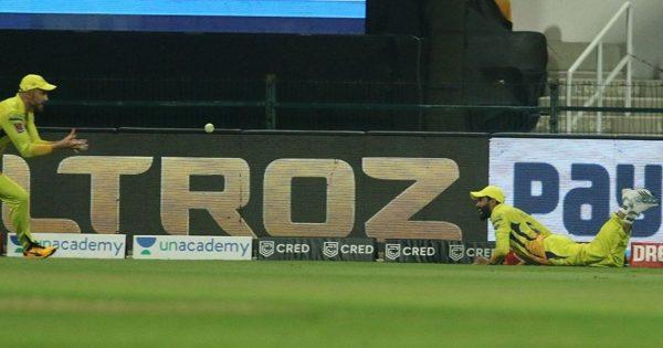 Stunning Catch By Ravindra Jadeja vs KKR in IPL 2020