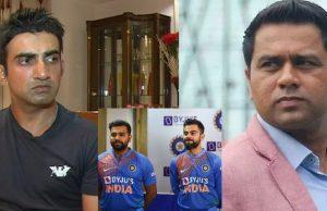 Gautam Gambhir and Akash Chopra into an argument