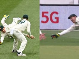 One Handed Stunning Catch By Paine and Pujara Gone
