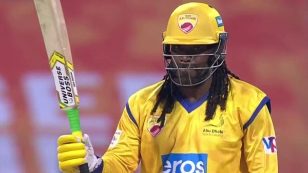Gayle storm in Abu Dhabi T10 - 84 off 22 balls
