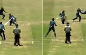 A South Africa Fielder Took A Flying Catch From Slip To Leg Slip