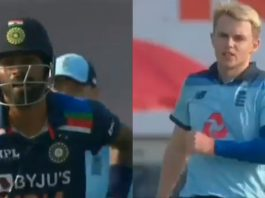 Hardik Pandya and Sam Curran engage in a heated argument