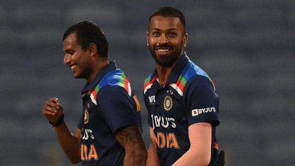 Hardik Pandya reacts to Ben Stokes wicket