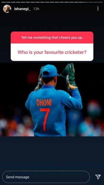 Isha Negi picks her favorite cricket player