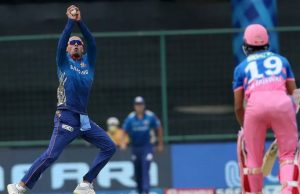 Rahul Chahar behaves inappropriately after taking Yashasvi Jaiswal wicket