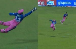 Sanju Samson takes flying catch to dismiss Dhawan