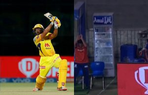 Ambati Rayudu's Six Breaks Fridge in Mumbai Indians Dugout